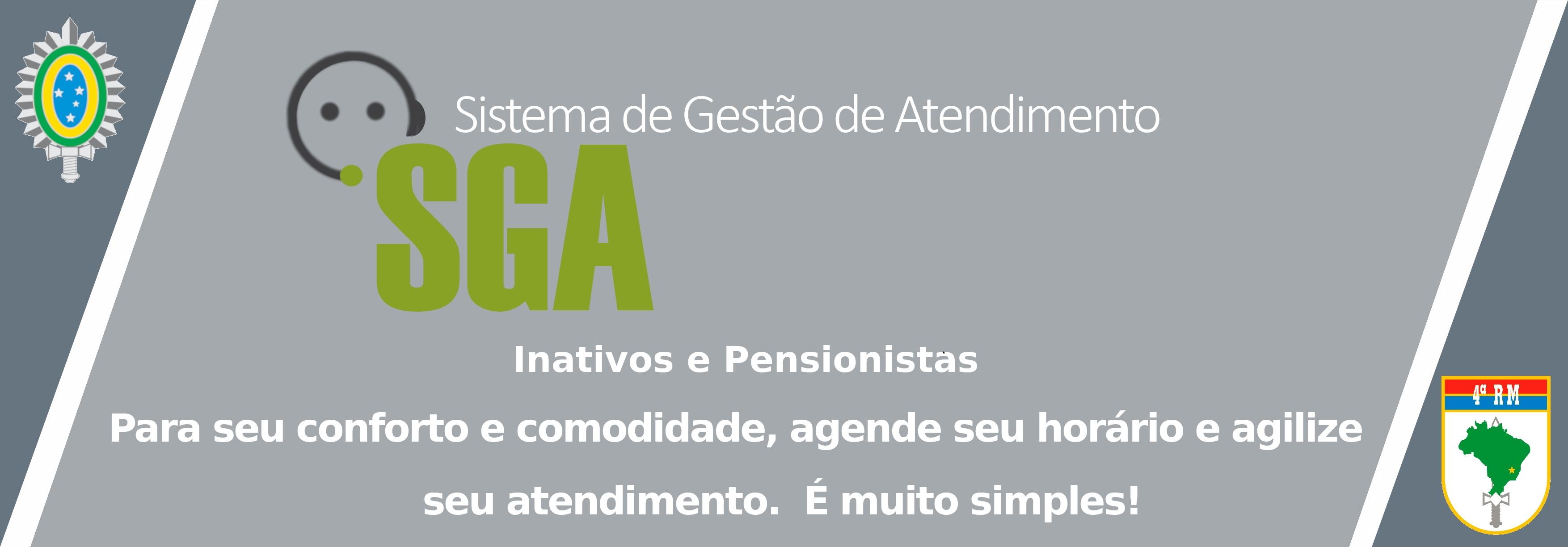 Sistema de Gestão de Atendimento - SGA - Inativos e Pensionistas