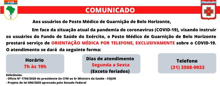 Comunicado Posto Médico