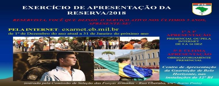 Semana de Comemoração do Reservista e Exercício de Apresentação da Reserva / 2018